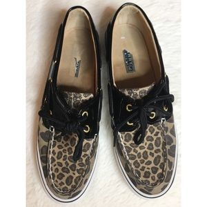 Sperry's Leopard print and Black patent leather